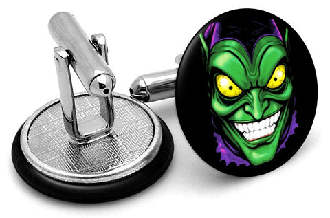 Green Goblin Portrait Cufflinks