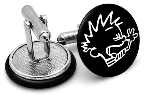 Calvin Face Cufflinks