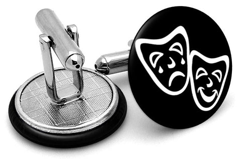 Tragedy and Comedy Masks Cufflinks