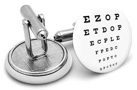 Optometrist Eye Exam Cufflinks