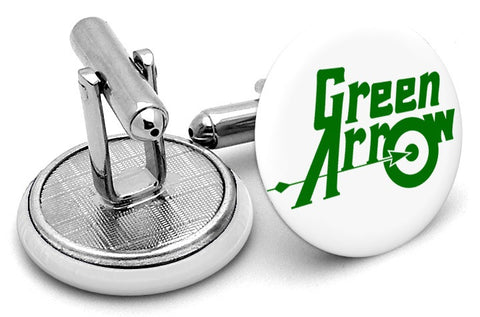 Green Arrow Logo Cufflinks