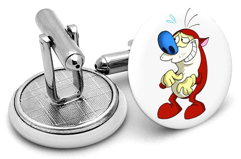 Stimpy from Ren & Stimpy Cufflinks