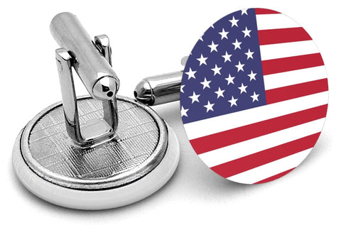 United States USA Flag Cufflinks