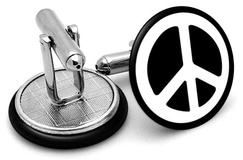 Peace Symbol Sign Cufflinks