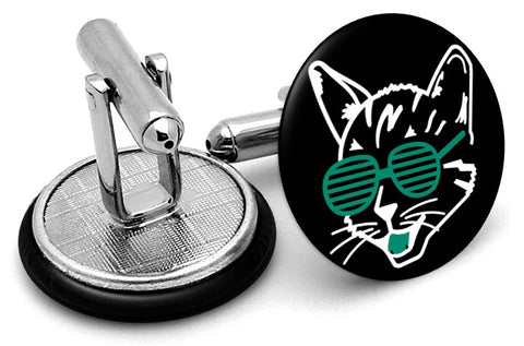 Cool Cat Glasses Cufflinks