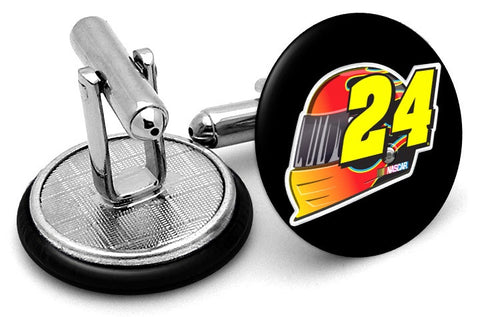 Jeff Gordon #24 Helmet Cufflinks