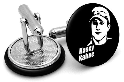Kasey Kahne Black White Cufflinks
