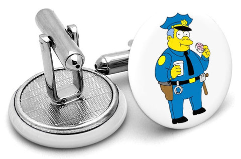 Chief Wiggum Simpsons Cufflinks