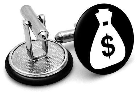 Money Bag Dollars Cufflinks