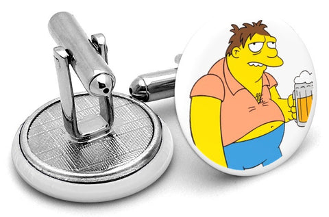 Barney Gumble Simpsons Cufflinks