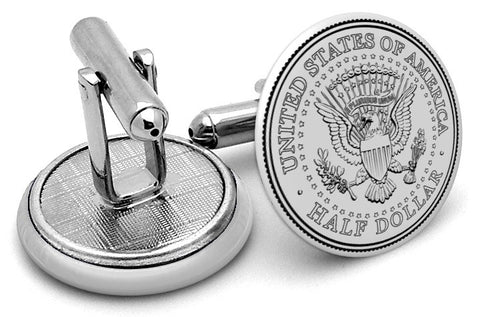 USD Half Dollar Front Cufflinks