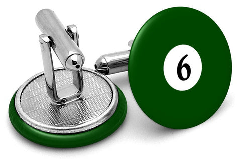 #6 Billiards Pool Ball Cufflinks