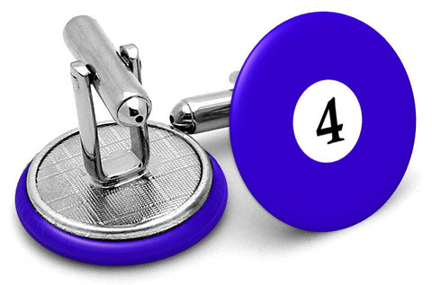 #4 Billiards Pool Ball Cufflinks