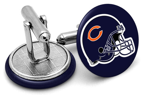 Chicago Bears Helmet Cufflinks