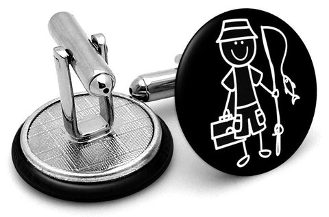 Fisherman Fishing Cufflinks