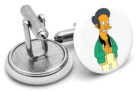 Apu Nahasapeemapetilon  Simpsons Cufflinks