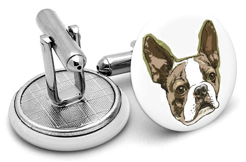 Boston Terrier Dog Cufflinks