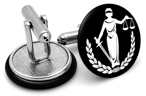 Lady Liberty Scales Justice Cufflinks