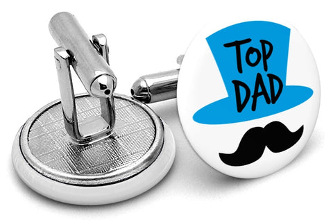 Top Dad Mustache Cufflinks