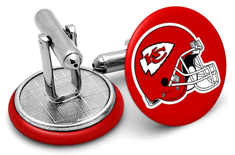 Kansas City Chiefs Helmet Cufflinks