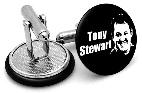 Tony Stewart Black White Cufflinks