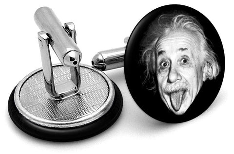 Albert Einstein Tongue Out Cufflinks