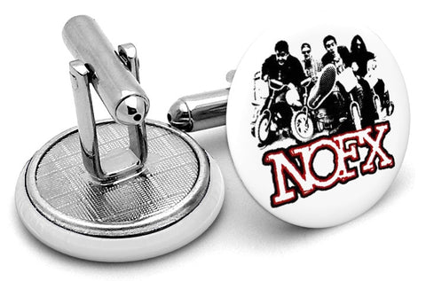 NOFX Logo White Cufflinks