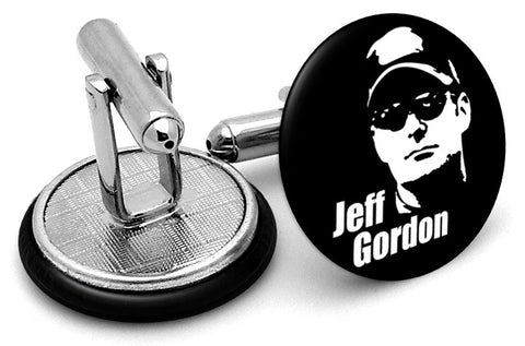 Jeff Gordon Black White Cufflinks