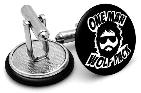 One Man Wolfpack Hangover Cufflinks