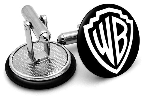 Warner Brothers Black Cufflinks