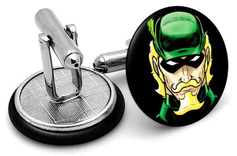 Green Arrow Portrait Cufflinks