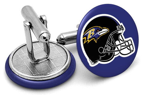 Baltimore Ravens Helmet Cufflinks