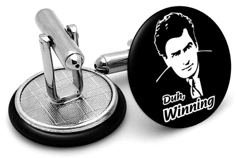Charlie Sheen Duh Winning Cufflinks