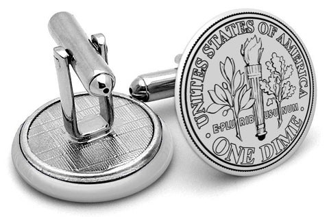 USD Dime Front Cufflinks