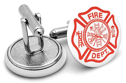 Fire Department Fireman Cufflinks