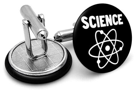 Science Atom Logo Cufflinks