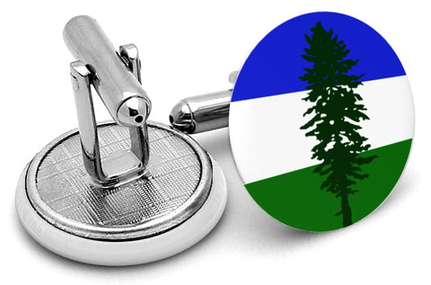 Doug Flag of Cascadia Cufflinks