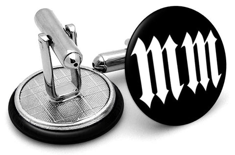 Marilyn Manson MM Logo Cufflinks