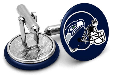 Seattle Seahawks Helmet Cufflinks