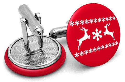 Reindeer Christmas Sweater Cufflinks