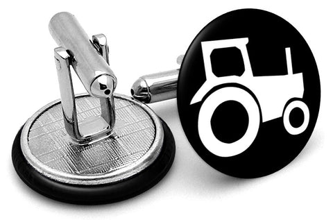 Farm Tractor Black Cufflinks