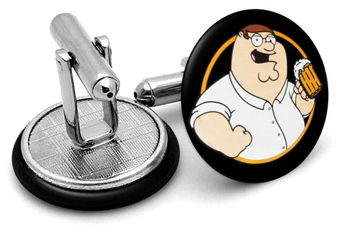 Peter Family Guy Beer Cufflinks