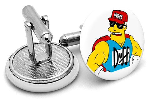 Duffman Simpsons Cufflinks