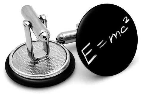 Science Einstein E=MC2 Cufflinks