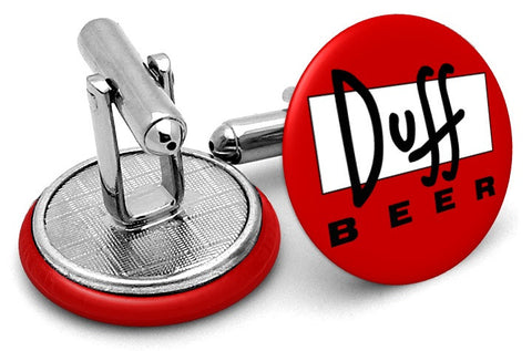Duff Beer Simpsons Cufflinks