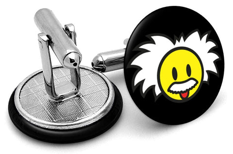 Albert Einstein Smiley Cufflinks