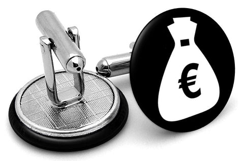 Money Bag Euros Cufflinks