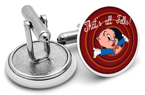 Porky Pig That's All Cufflinks