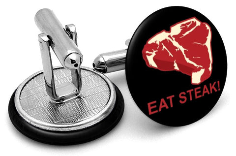 Eat Steak Cufflinks
