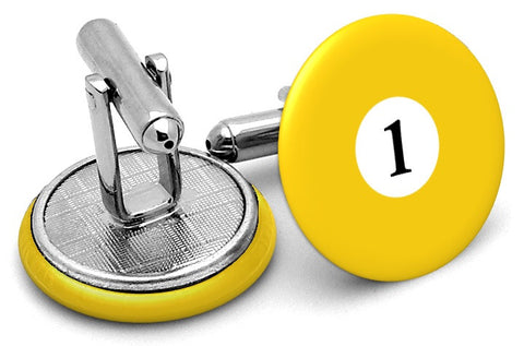 #1 Billiards Pool Ball Cufflinks